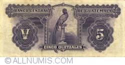 Image #2 of 5 Quetzales 1936 (29. II.)