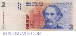 Imaginea #1 a 2 Pesos ND (2002)  - Semnături Hernán Martín Pérez Redrado/  Alberto Edgardo Balestrini