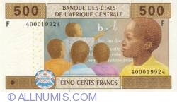 Image #1 of 500 francs 2002 (2007-2009) F, sign Philibert Andzembe
