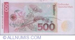 Image #2 of 500 Deutsche Mark 1991 (1. VIII.)