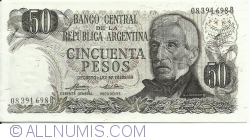 Image #1 of 50 Pesos ND (1974-1975) - signatures Emilio Mondelli / Ricardo A. Cairoli