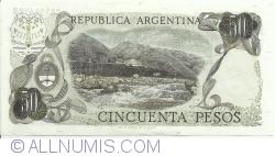 Image #2 of 50 Pesos ND (1974-1975) - signatures Emilio Mondelli / Ricardo A. Cairoli