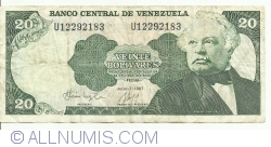 20 Bolivares 1987 (7. VII.)