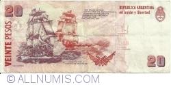 20 Pesos ND (2003) - signatures Juan Carlos Fábrega/ Amado Boudou