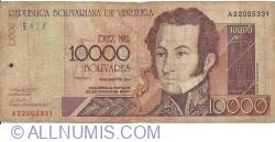 10 000 Bolivares 2000 (25. V.)