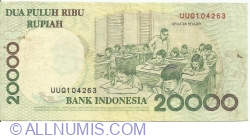 Imaginea #2 a 20 000 Rupiah 1998/2001