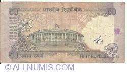 Imaginea #2 a 50 Rupees ND (1997) A - semnătură Bimal Jalan (88)