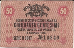 50 Centesimi 1918 (2. I.)
