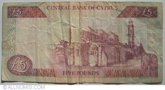 Cyprus 5 Pounds UNC P-61b 2003