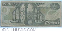 Image #2 of 2000 Pesos 1989 (28. III.) - Serie GF