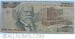 Image #1 of 2000 Pesos 1989 (28. III.) - Serie GF