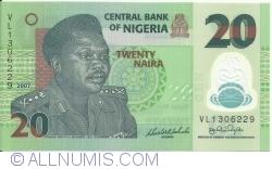 Image #1 of 20 Naira 2007 - 7 digit serial