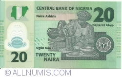 Image #2 of 20 Naira 2007 - 7 digit serial