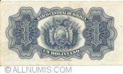 1 Boliviano L. 1928 - signatures Sánchez, Prudencio, Ascarrunz