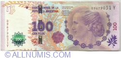 100 Pesos ND (2012) - signatures Alejandro Vanoli / Amado Boudou