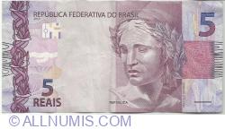 5 Reais 2010 - semnături Henrique Meirelles / Ilan Goldfajn