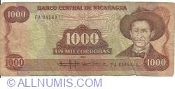 1000 Cordobas 1985 (1988)