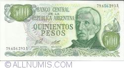 500 Pesos ND(1977-1982) - signatures Enrique José Porta/ Adolfo César Diz