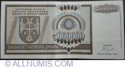 Imaginea #1 a 5 000 000 Dinari 1993