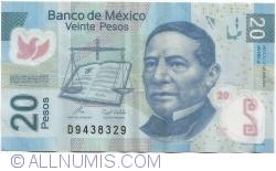 Image #1 of 20 Pesos 2009 (23. IV.) - Serie J
