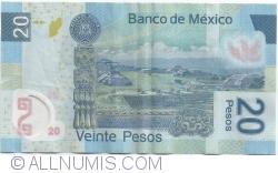 Image #2 of 20 Pesos 2009 (23. IV.) - Serie J