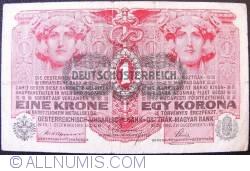 Imaginea #1 a 1 Kronen ND (1919 - pe vechea emisiune  1. XIII. 1916)