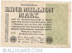 Image #1 of 1 Million (1 000 000) Mark 1923 (09. VIII.)