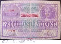 Image #1 of 1 Schilling on 10,000 Kronen 1924