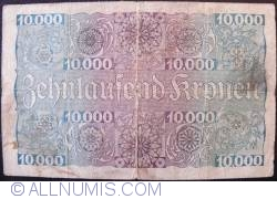Image #2 of 1 Schilling on 10,000 Kronen 1924