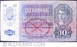 Imaginea #2 a 10 Kronen ND (1919 - pe vechea emisiune 2.I.1915)