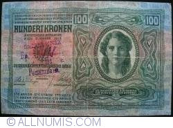 Image #1 of 100 Kronen 1912 (2. I.) - requires handstamp identification