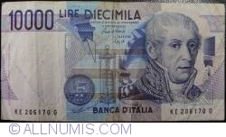 Image #1 of 10000 Lire 1984 (3. IX.) - Signature Carlo Azeglio Ciampi/Fortunato Speziali