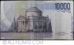 Image #2 of 10000 Lire 1984 (3. IX.) - Signature Carlo Azeglio Ciampi/Fortunato Speziali