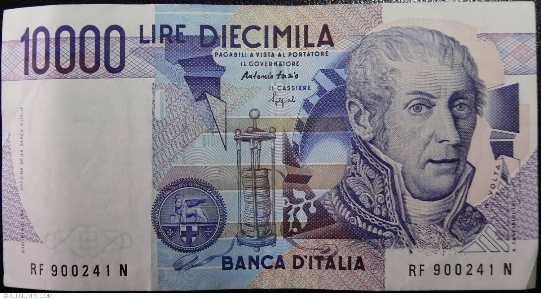 10000 Lire 1984 3 Ix Signature Antonio Fazio Fortunato Speziali
