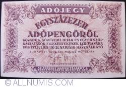 Imaginea #1 a 100.000 (Egyszázezer) Adópengö 1946 (28. V.)