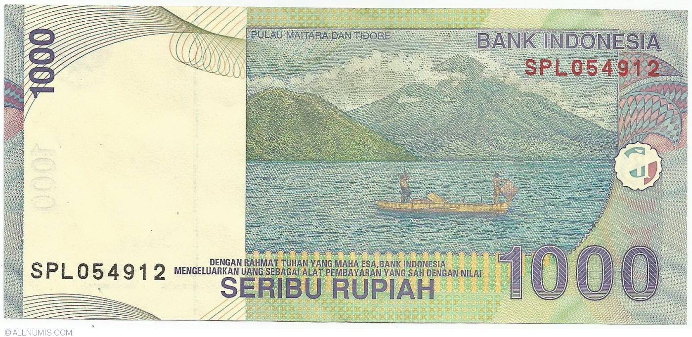 Indonesia P-141 1000 Rupiah Year 2000 2001 Volcano Uncirculated Banknote