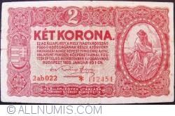 Imaginea #1 a 2 Coroane 1920 (1. I.) - Serie Tip 0aa000 * 000000
