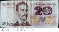 Image #1 of 20 Zlotych 1982 (1. VI.) - 2