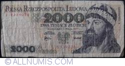 Image #1 of 2000 Zlotych 1977 (1. V.)