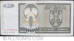 Imaginea #2 a 50 Dinari 1992