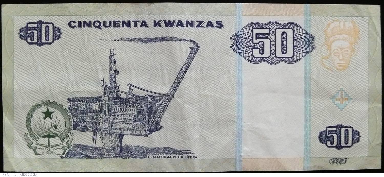 Paper Money: World Angola 50 Kwanzas 1999 Unc P.146 A