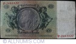 Image #2 of 50 Reichsmark 1933 (30. III.) - E (7 digit serial)
