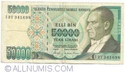 Image #1 of 50 000 Lira ND(1989)