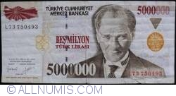 Image #1 of 5,000,000 Lira L.1970 (I. 1997)