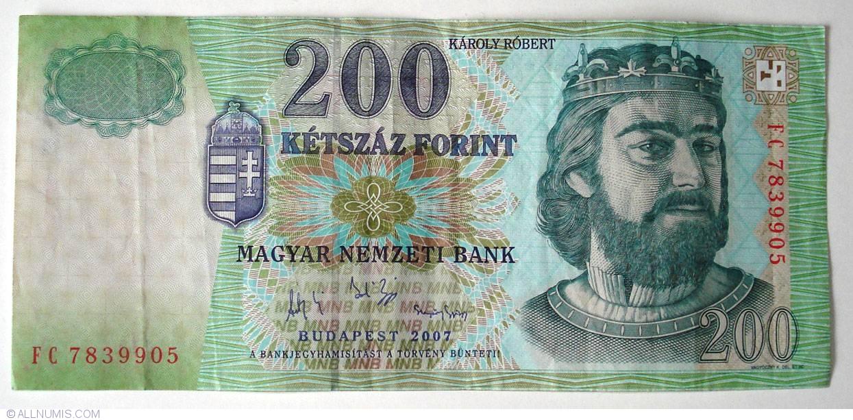 P-187g UNC Hungria Hungary 200 Forint 2007