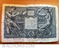 Image #1 of 10 Lire 1944 (23. XI.) - signatures Bolaffi/ Cavallaro/ Giovinco