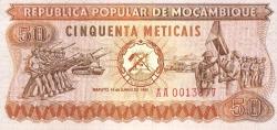 Imaginea #1 a 50 Meticais 1980 (16. VI.)