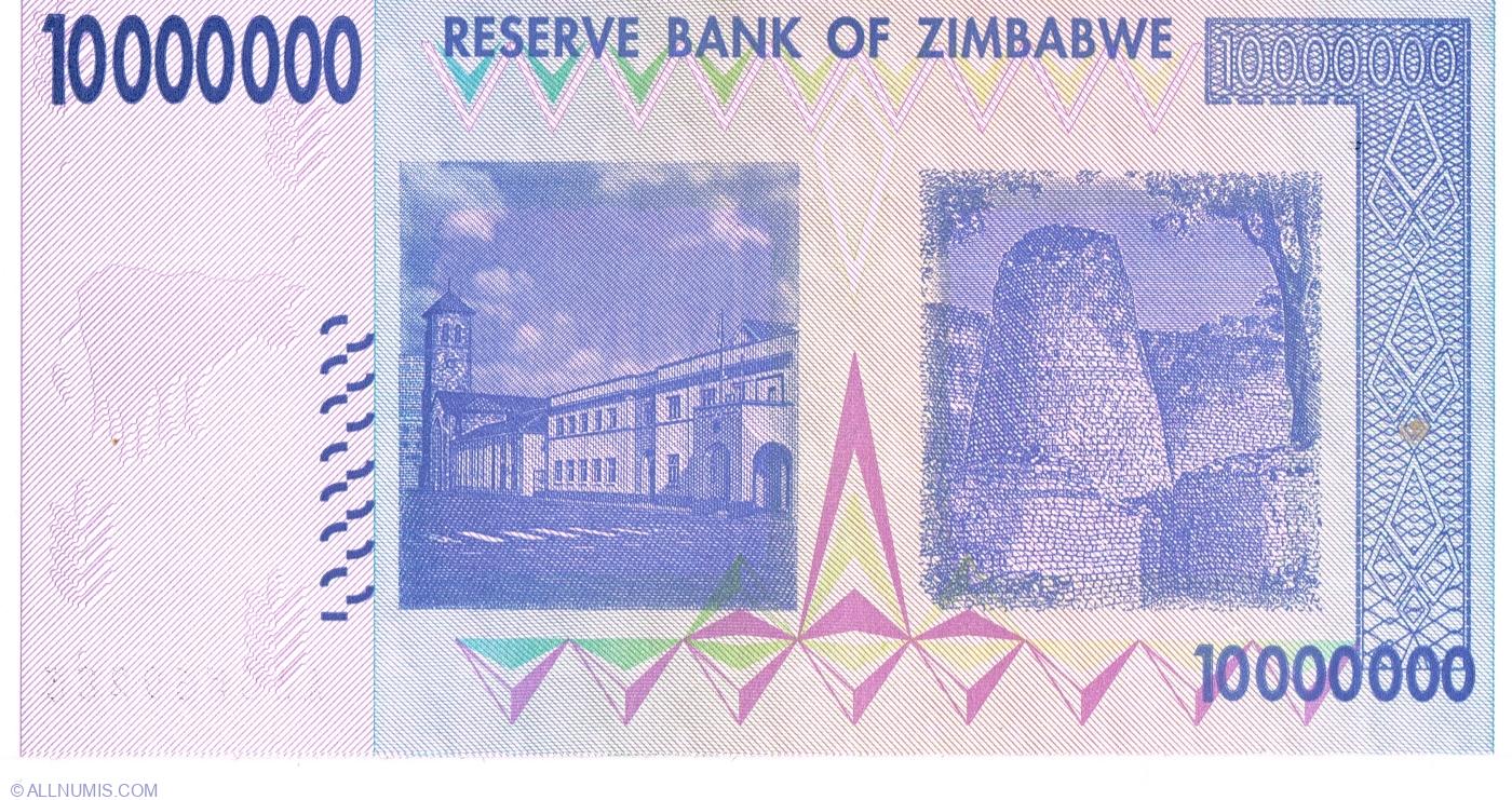 2008 10 Zimbabwe banknotes-5 x 200 Million//5 x 500 Million dollars-currency