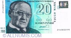 20 Markkaa 1993 (1997) - signatures: Ollila/ Heinonen