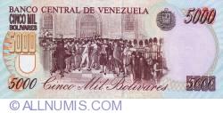 Imaginea #2 a 5000 Bolivares 1996